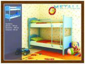 Детская двухъярусная кровать Metall