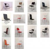 Разные стулья для кафе из никели