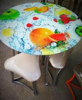 Набор для кафе круглый, стол + стулья