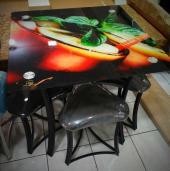 Набор для кафе квадратный, стол + стулья